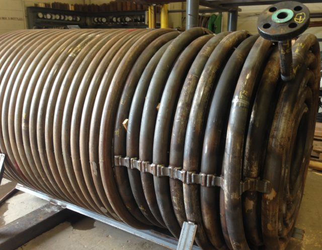 Helical coil with spiral pancake coils tulsa tube